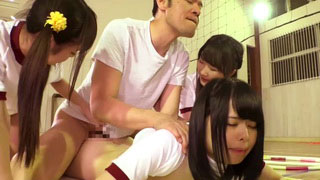 Horny Gym Instructor Pounded Petite Schoolgirls With Tight Asses
