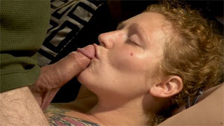 Mature Redhead Wife Gets Cum in Mouth After Face Fucking