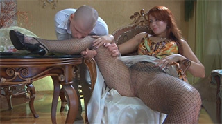 Redhead Russian MILF Spreads Her Sexy Legs for Horny Young Cock