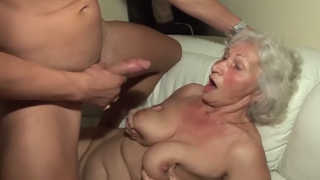 Surprisingly Hot Mature Boobs Fucked by Young Guy